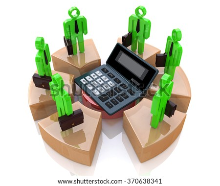 Business calculations in the design of the information related to the economy - stock photo