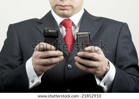 Business calls - stock photo