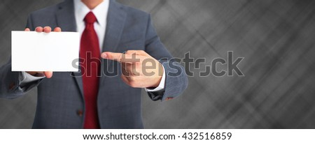 Business card. - stock photo