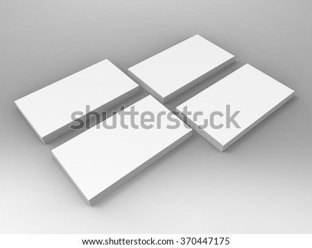 Business Card 3D Render is professional 3D render that can be used for various marketing campaigns, as well as brand marketing - stock photo