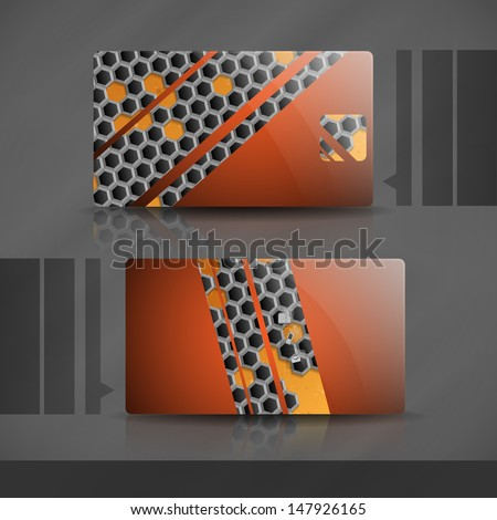 Business card design.   - stock photo