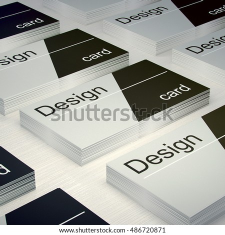 Business card design 3d render illustration mockup