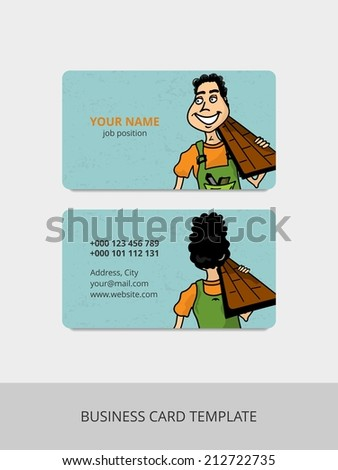 Business card for repair service - stock photo
