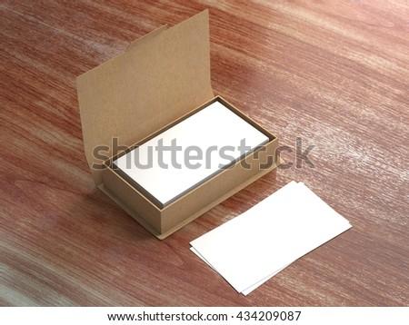 Business card craft carton box mock stock illustration for Craft paper card stock