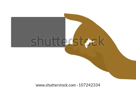 Business card hand space text message stock illustration 107242334 business card in hand with space for text message isolated on white background colourmoves