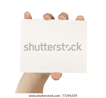 business card isolated on the white backgrounds - stock photo
