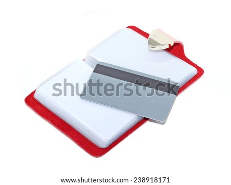 business card isolated on white background - stock photo