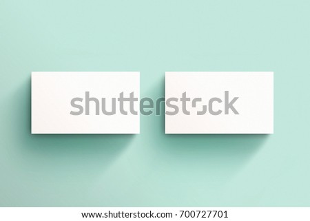 Square Business Card Mockup Template Stock Photo - Business card mockup template
