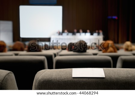 Business card on the chair. - stock photo