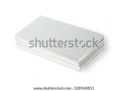 Business card on white