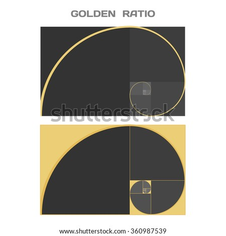 Business Card Template. Golden Ratio. Divine Proportion. Ideal Section. - stock photo