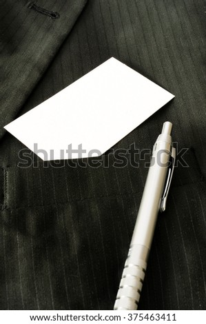 Business card with blank space  - stock photo