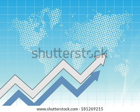 Business card with map of world - stock photo