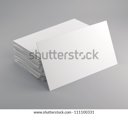 Business cards isolated with soft shadow - stock photo
