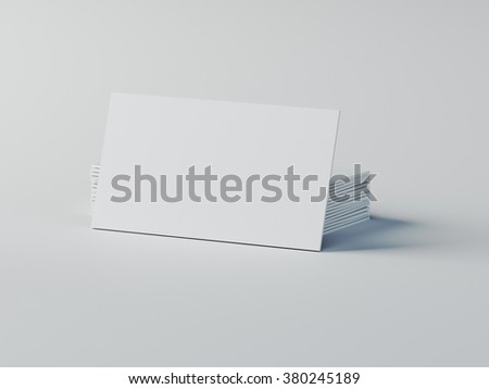 business cards mockup - stock photo