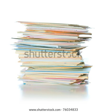 business cards on the table isolated - stock photo