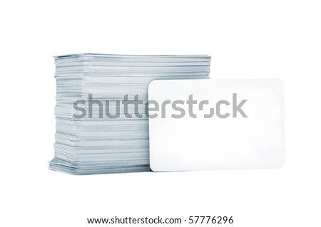 Business cards with rounded corners on a white background - stock photo
