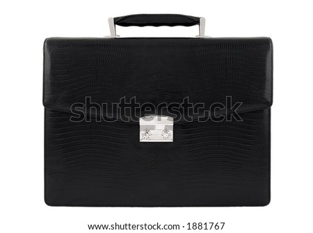 Business case made of fine leather, with lock
