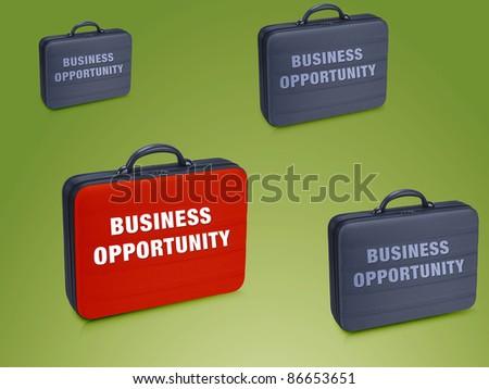 Business  case write on it  Business Opprtunity - stock photo