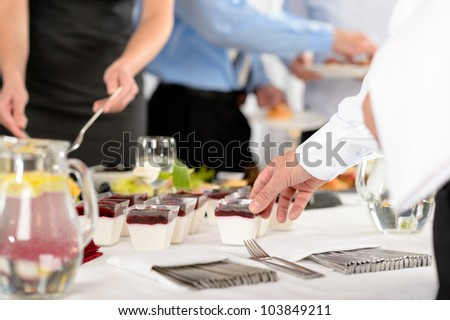 Business catering dessert for company formal celebration close-up - stock photo
