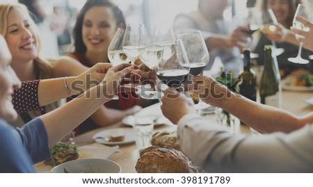 Business Celebrate Cheerful Enjoyment Festive Concept - stock photo