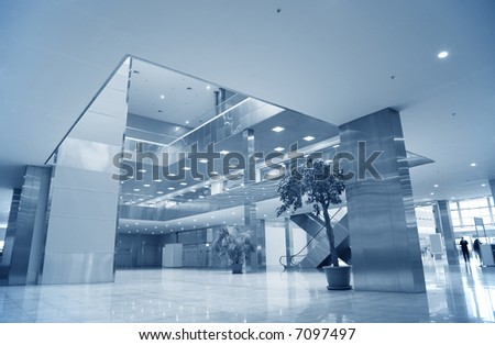 business center - stock photo