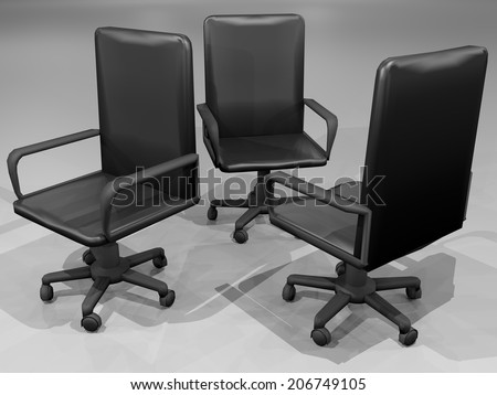 Business chairs - stock photo