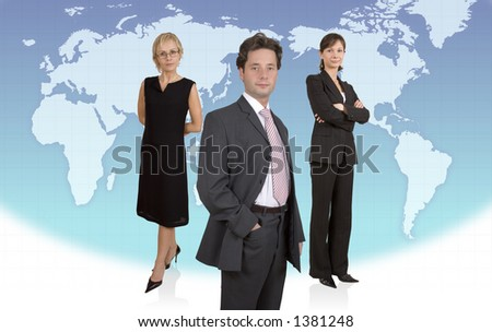 "Business ""Charlie's Angels"" - stock photo"