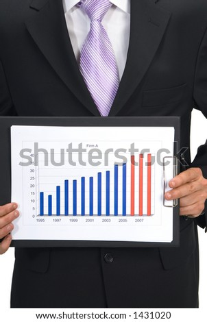 business chart - stock photo