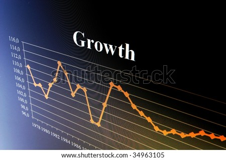 business chart and data from stock market showing success - stock photo