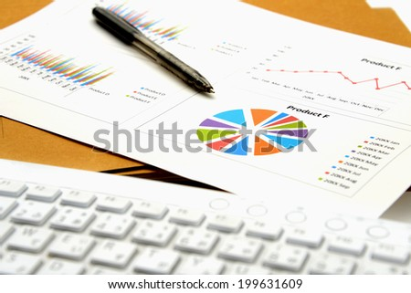 Business chart and files
