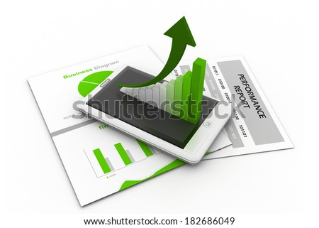 Business chart and graph - stock photo