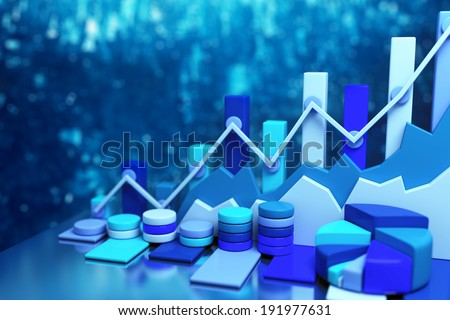 Business chart background - stock photo