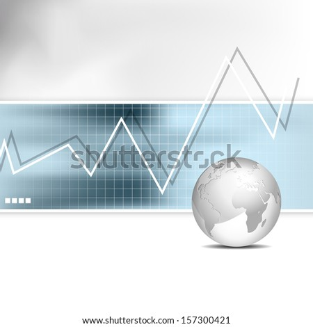Business chart - bar graph - financial background - stock photo