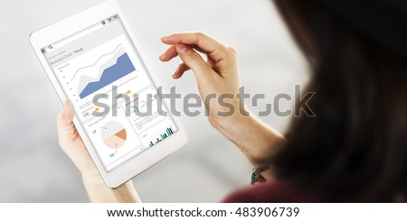 Business Chart Dashboard Analysis Report Concept