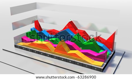 Business chart (diagram) - stock photo