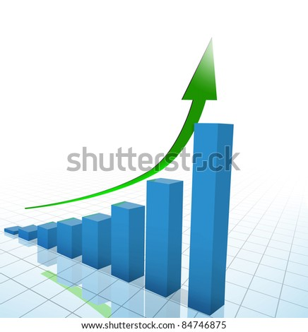 business chart, graph - stock photo