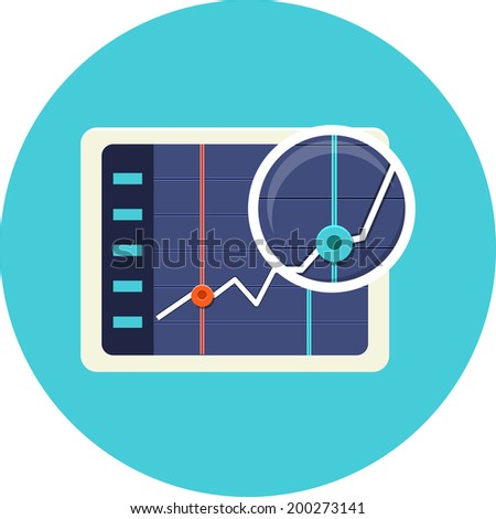 Business chart on the screen  - stock photo