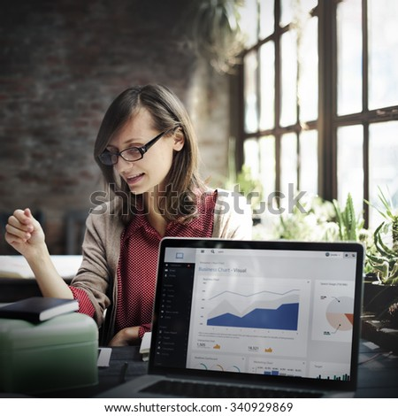 Business Chart Report Statistic Planning Analysis Concept - stock photo