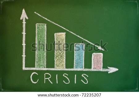 business chart showing financial crisis at the stock market