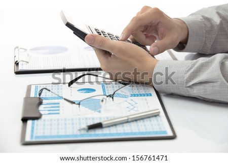 business chart showing financial success - stock photo