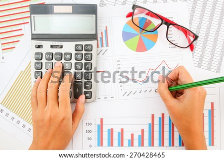 Business chart showing financial success. - stock photo