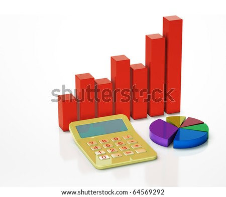 business chart showing financial success at the stock market - stock photo