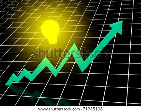 Business chart with idea. - stock photo