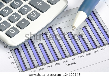 Business charting concept of financial report - stock photo