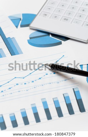 Business charts - stock photo