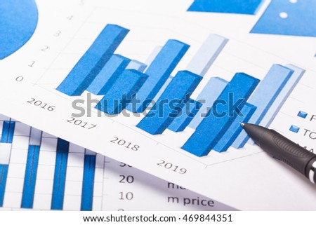 Business Charts blue