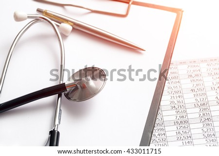 business checking - stock photo