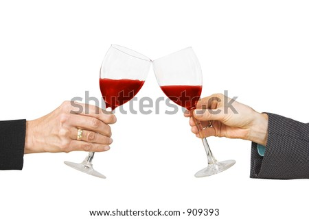 business cheers celebrating success