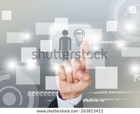 Business. Choosing the Right Person employee for business - stock photo